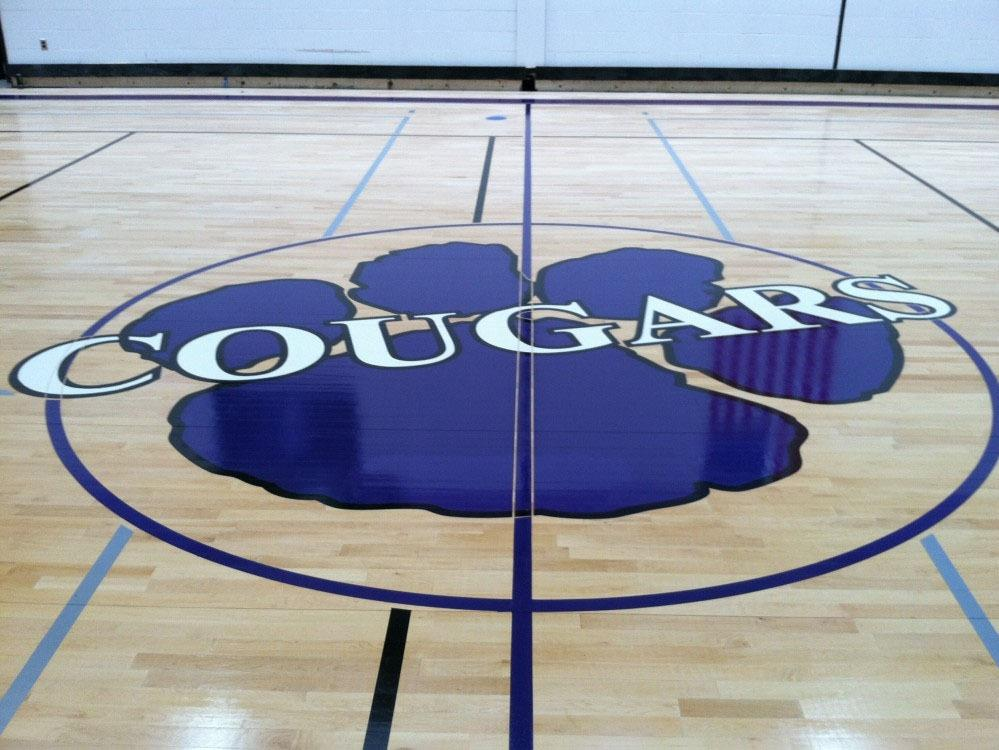 Chestnut Ridge School Gym and Logo
