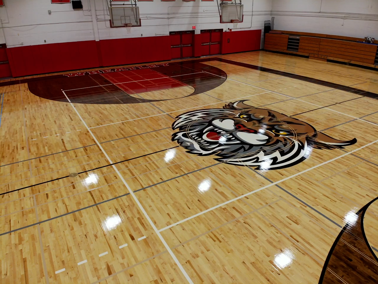 Wheatley Gym Basketball Court Overview